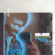 CDs de Música: BOBBY HUTCHERSON – OBLIQUE. Lote 166501206