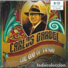 CDs de Música: CARLOS GARDEL. THE GOD OF TANGO. 8 CDS Y BOOKLET. Lote 166511385