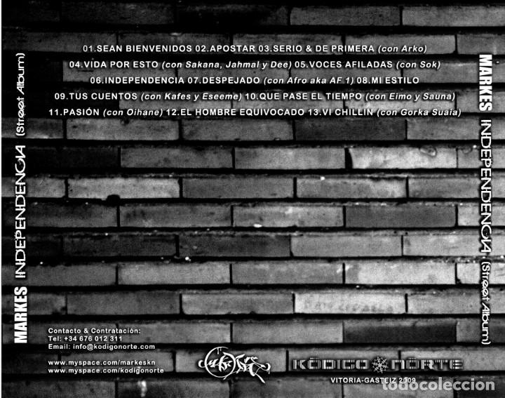 CDs de Música: MARKES - INDEPENDENCIA - Foto 2 - 166559342