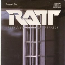 CDs de Música: RATT - INVASION OF YOUR PRIVACY - CD LONG BOX - US 1985 - ATLANTIC - 81257-2 - ONLY LONGBOX. Lote 166701922