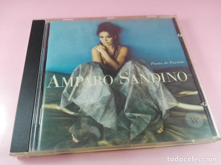 CD-AMPARO SANDINO-PUNTO DE PARTIDA-1996-ELEKTRA/WARNER-10 TEMAS-BUEN ESTADO-VER FOTOS (Música - CD's Latina)