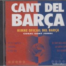 CDs de Música: CANT DEL BARÇA CD HIMNE OFICIAL DEL BARÇA 1992 PDI FUTBOL CLUB BARCELONA. Lote 166728938