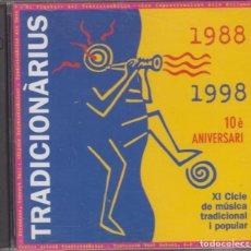 CDs de Música: TRADICIONÀRIUS DOBLE CD 1988 - 1998 10È ANIVERSARI CICLE DE MÚSICA TRADICIONAL I POPULAR. Lote 166730538