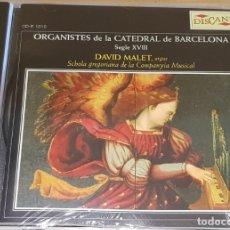 CDs de Música: ORGANISTES DE LA CATEDRAL DE BARCELONA / DAVID MALET / CD-DISCANT-2005 / PRECINTADO.. Lote 166865128