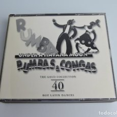 CDs de Música: RUMBA Y CONGAS. THE GOLD COLLECTION 40 HOT LATIN DANCE 2XCD. Lote 166888364