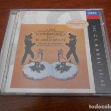CDs de Música: 2 CD MUSIC OF SPAIN DE FALLA +THE CLASSIC SOUND FALLA EL AMOR BRUJO. Lote 166906252