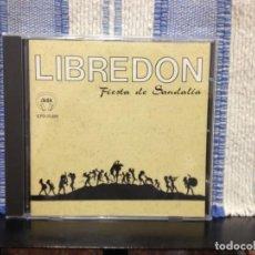 CDs de Música: LIBREDON - FIESTA DE SANDALÍA / RARO ALBUM CD AÑO 1991. (FOLK) SAGA NM-NM. Lote 166920100