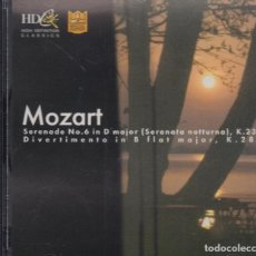 CDs de Música: MOZART. LITHUANIAN CHAMBER ORCHESTRA. Lote 166928588