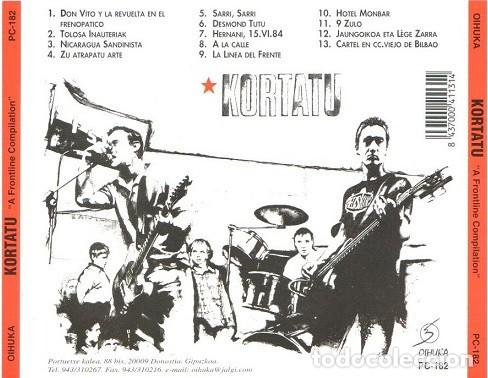 CDs de Música: KORTATU - A FRONTLINE COMPILATION - Foto 2 - 166931372