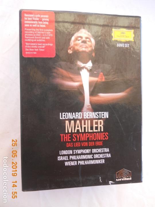 LEONARD BERNSTEIN , MAHLER THE SYMPHONIES DAS LIED VON DER ERDE - 9 DVD (Música - CD's Clásica, Ópera, Zarzuela y Marchas)
