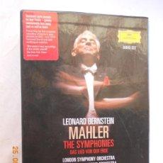 CDs de Música: LEONARD BERNSTEIN , MAHLER THE SYMPHONIES DAS LIED VON DER ERDE - 9 DVD . Lote 167041184