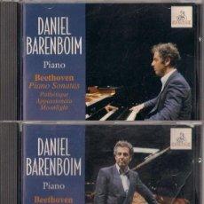 CDs de Música: DANIEL BAREMBOIM PIANO - BEETHOVEN, PIANO SONATAS/DIABELLI VARIATIONS - 2 CD ERMITAGE 1996. Lote 167059328