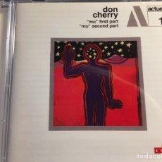 CDs de Música: DON CHERRY - MU FIRST PART / MU SECOND PART (CD) ACTUEL 1. Lote 167061416