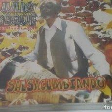 CDs de Música: JULIO BEQUE - SALSACUMBIANDO - CD LATIN SALSA. Lote 167073220