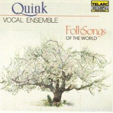 CDs de Música: QUINK VOCAL ENSEMBLE - FOLK SONGS OF THE WORLD - CD. Lote 167267492