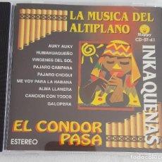 CDs de Música: LA MÚSICA DEL ANTIPLANO. INKAQUENAS. EL CONDOR PASA. ALMA LLANERA, GALOPERA Y OTROS TEMAS. Lote 167582300