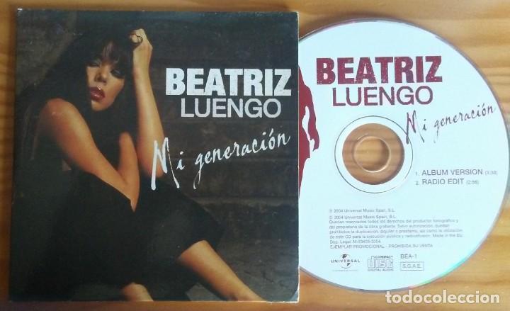 BEATRIZ LUENGO MI GENERACION ALBUM VERSION+RADIO EDIT CD SINGLE UNIVERSAL 2004 (Música - CD's Pop)
