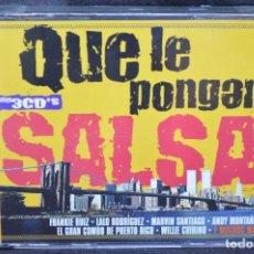 CDs de Música: VARIOUS - QUE LE PONGAN SALSA - 3 CD. Lote 167677452