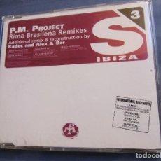 CDs de Música: P.M.PROJECT- TITULO RIMA BRASILEÑA REMIXES-DEL 97- CON 5 TEMAS - MUSICA DE IBIZA- NUEVO. Lote 167731308