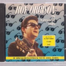 CDs de Música: ROY ORBISON - 16 GREATES HITS + SPECIAL BONUSTRACK (CD 1988, SWEET 16 CD 12003). Lote 167737248