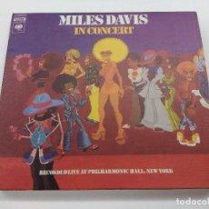 CDs de Música: CD DOBLE CARTONE/MILES DAVIS IN CONCERT/LIVE AT PHILHARMONIC HAAL-NEW YORK.. Lote 167792464