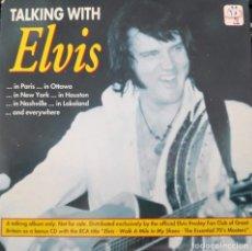 CDs de Música: TALKING WITH ELVIS - CD. Lote 167505572