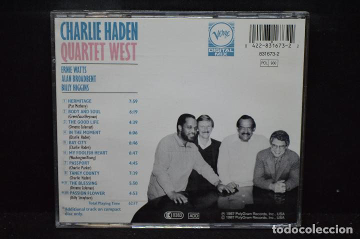 CDs de Música: CHARLIE HADEN - QUARTET WEST - CD - Foto 2 - 167907440