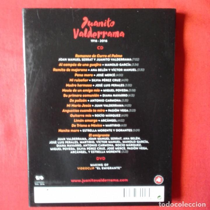 CDs de Música: JUANITO VALDERRAMA 1916 - 2016 SERRAT ANA BELLEN JOSE MERCE MANOLO GARCIA. CD + DVD - Foto 2 - 167907576