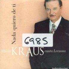 CDs de Música: ALFREDO KRAUS / NADA QUIERO DE TI (CD SINGLE CARTON PROMO 1996). Lote 167970088