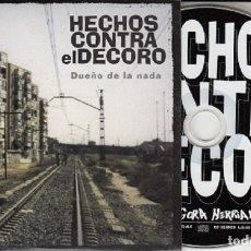 CDs de Música: HECHOS CONTRA EL DECORO - DUEÑO DE LA NADA - CD SINGLE PROMO CON 2 TEMAS HIP HOP RAP #. Lote 168107688
