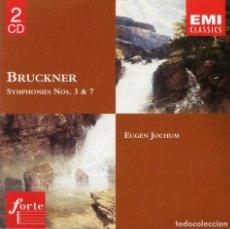 CDs de Música: 2 CDS. BRUCKNER. SINFONÍAS 3 + 7. EUGEN JOCHUM. Lote 168124352