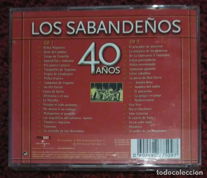 CDs de Música: LOS SABANDEÑOS (40 AÑOS) 2 CDs 2006 - Foto 2 - 168150396