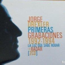 CDs de Música: JORGE DREXLER PRIMERAS GRABACIONES 1992-1994 DOBLE CD ESTUCHE. Lote 168218224
