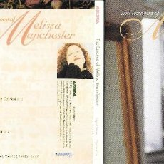 CDs de Música: MELISSA MANCHESTER - THE ESSENCE OF MELISSA MANCHESTER. Lote 168256044