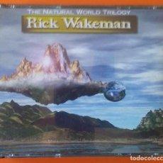 CDs de Música: RICK WAKEMAN THE NATURAL WORLD TRILOGY 3 CD'S UK 1997 MUSIC FUSION MFACD001. Lote 168258920