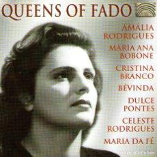 CDs de Música: QUEENS OF FADO - AMALIA RODRIGUES, DULCE PONTES, CRISTINA BRANCO... - CD 16 TRACKS - ARC MUSIC 2000. Lote 168265612