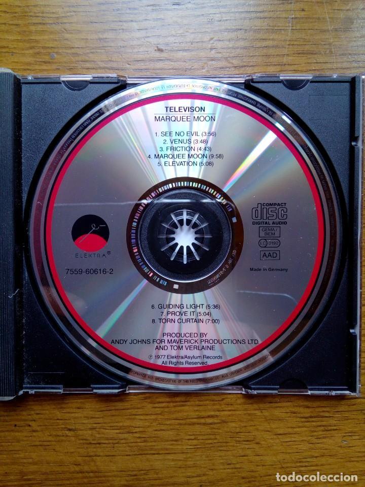 CDs de Música: Television - Marquee moon, Elektra, 1977. Germany. - Foto 4 - 168350380