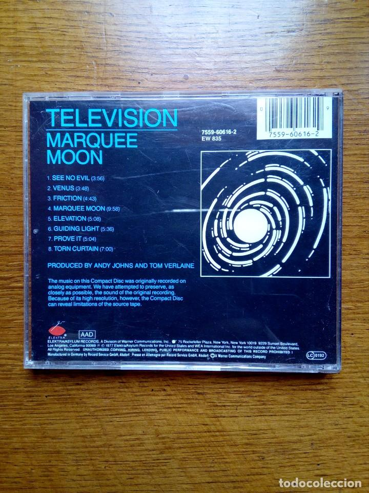 CDs de Música: Television - Marquee moon, Elektra, 1977. Germany. - Foto 5 - 168350380