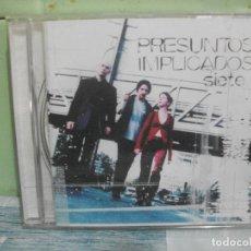CDs de Música: PRESUNTOS IMPLICADOS - SIETE - CD ALBUM 1997 PEPETO. Lote 168357424