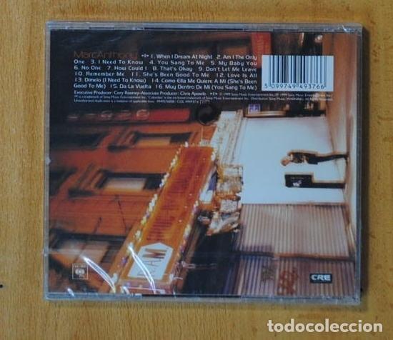 CDs de Música: MARC ANTHONY - MARC ANTHONY - CD - Foto 2 - 168456849