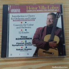 CDs de Música: HEITOR VILLA-LOBOS COMPLETE WORKS FOR GUITAR VOL.1 . Lote 168497320