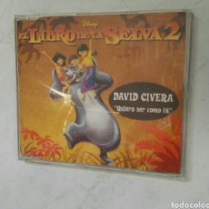 CDs de Música: EL LIBRO DE LA SELVA 2 QUIERO SER COMO TU DAVID CIVERA CD. Lote 168643258