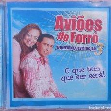 CDs de Música: AVIÕES DO FORRÓ – VOL. 3, A DIFERENÇA ESTÁ NO AR (EZAPSOM) /// ED. BRASIL ORIGINAL, RARO /// SAMBA. Lote 168715864