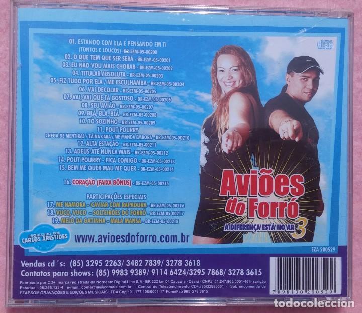 CDs de Música: Aviões do Forró – Vol. 3, A Diferença Está No Ar (Ezapsom) /// ED. BRASIL ORIGINAL, RARO /// SAMBA - Foto 3 - 168715864