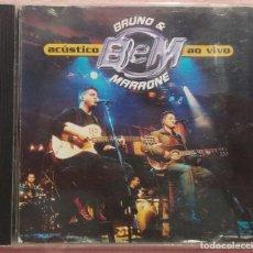CDs de Música: BRUNO & MARRONE - ACÚSTICO AO VIVO (ABRIL MUSIC, 2001) /// ED. BRASIL ORIGINAL, RARO /// SAMBA / AXÉ. Lote 168716640