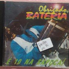 CDs de Música: OBRIGADO BATERIA - É 10 NA SAPUCAÍ (SONOPRESS) /// ED. BRASIL ORIGINAL, RARO /// SAMBA / AXÉ / FORRÓ. Lote 168719352
