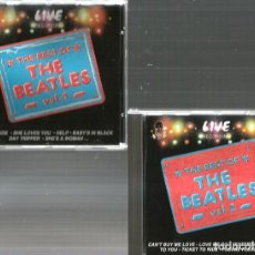 CDs de Música: 2 CD'S THE BEST OF THE BEATLES ( LIVE RECORDING ) PARIS, HOLLYWOOD, STOCKHOLM, LONDON ETC . Lote 168742108