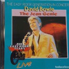 CDs de Música: DAVID BOWIE. THE JEAN GENIE. LIVE TOWER THEATRE PHILADELPHIA JULIO 1074. CD ITALIA. Lote 168819504