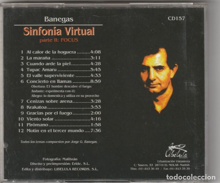 CDs de Música: JORGE GARCIA BANEGAS - SINFONIA VIRTUAL, PARTE II: FOCUS (CD LIBELULA 1993) ASFALTO - Foto 2 - 168916380
