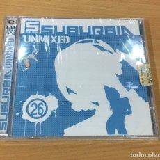 CDs de Música: DOBLE CD TECHNO HOUSE PROGRESSIVE - SUBURBIA UNMIXED 26. SAIFAM, 2013. PRECINTADO. Lote 168953256